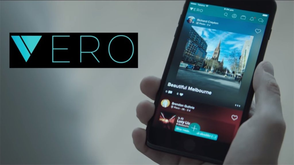 Image of the Vero social media app and its logo