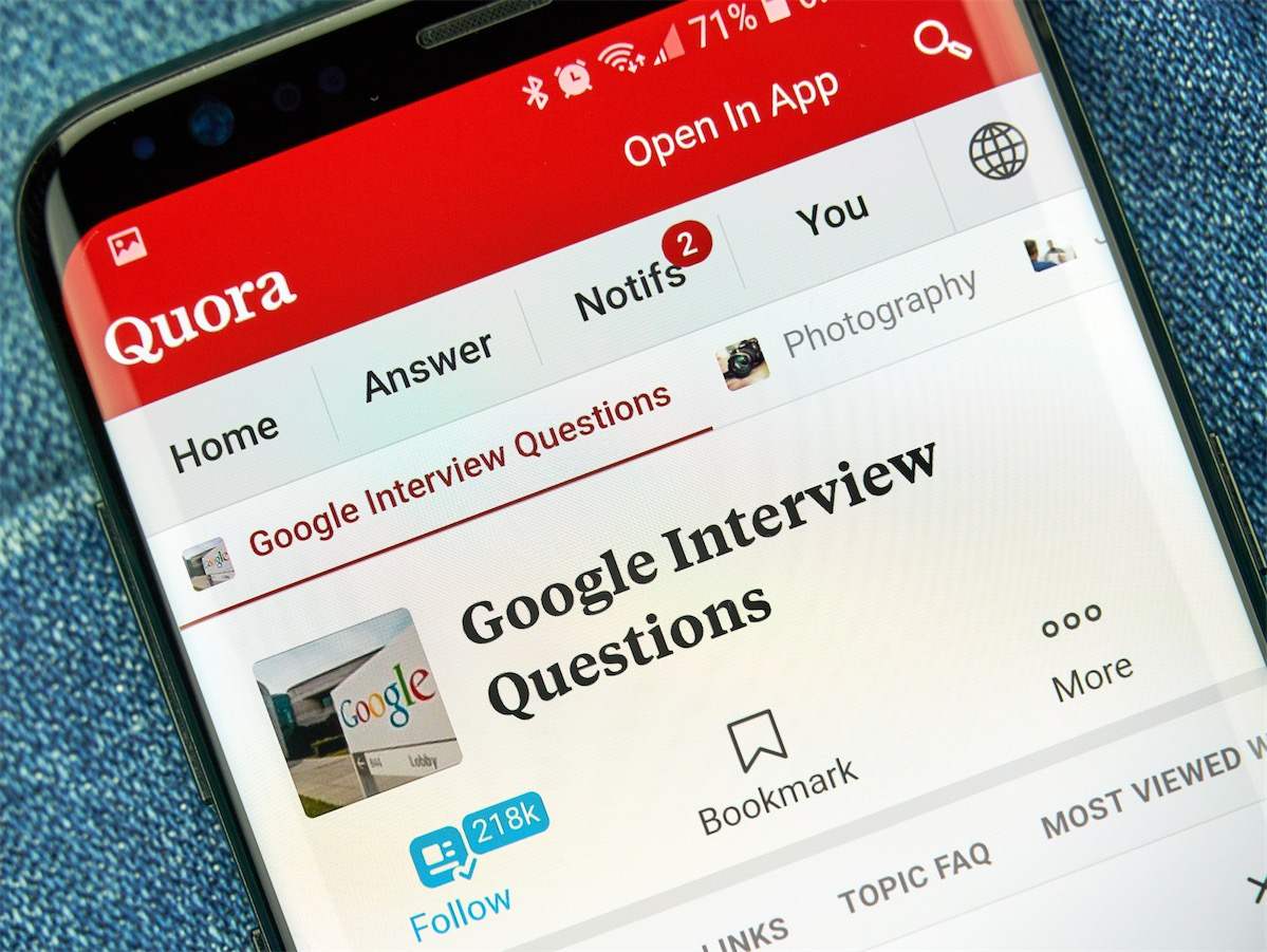 Quora on mobile phone